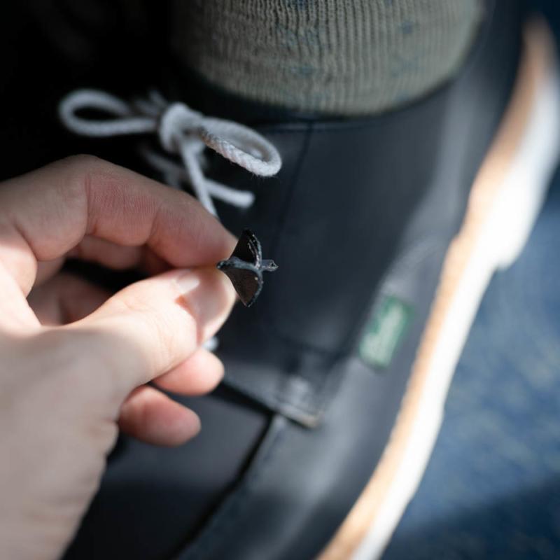 パラブーツ女性用革靴chambordのnavyの取り扱い