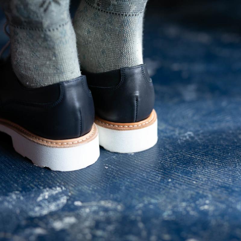 パラブーツ女性用革靴シャンボードのnavyの取り扱い