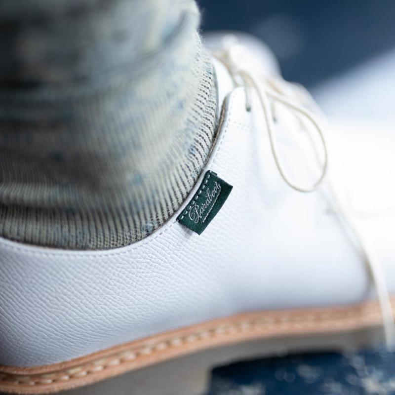パラブーツの女性用短靴のヴェレイのホワイトの通販