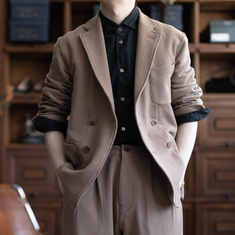 フィルメランジェのピケジャケット スヴェンのトープの通販
