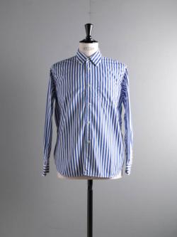 Sans Limite | SH01B-2 Stripe ブロード2本針ボックスレギュラーシャツ