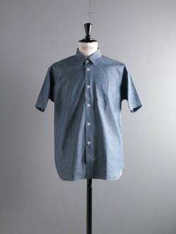 Sans Limite | SH01BH Chambrey オーガニックダンガリーボックスレギュラー半袖シャツの商品画像