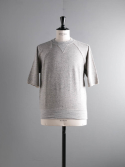 FilMelange | CARL Melange エアリネン裏毛半袖スウェットシャツ カールの商品画像