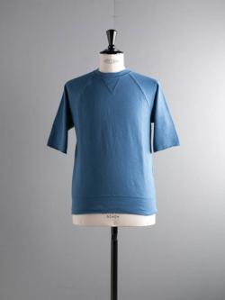 FilMelange | CARL Blue エアリネン裏毛半袖スウェットシャツ カールの商品画像