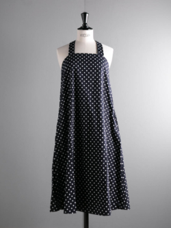 ENGINEERED GARMENTS | CROSS BACK DRESS – BIG POLKA DOT BROADCLOTH Dk. Navy クロスバックドレスの商品画像