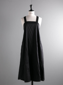 ENGINEERED GARMENTS | CROSS BACK DRESS – COTTON SATEEN Black クロスバックドレスの商品画像