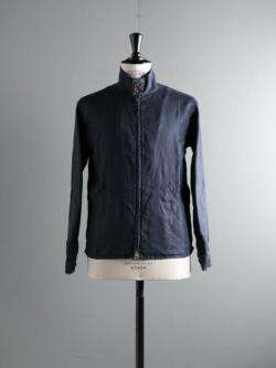ARBRE | HARRINGTON JACKET Navy リネンハリントンジャケットの商品画像