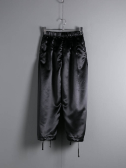 ENGINEERED GARMENTS | BALLOON PANT FOR WOMAN – POLYESTER SATEEN Black バルーンパンツの商品画像