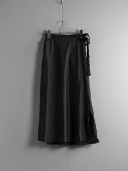 ENGINEERED GARMENTS | WRAP SKIRT – COTTON SATEEN Black ラップスカートの商品画像