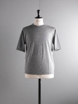 BATONER | BN-19SM-023 Gray ウォッシャブルウールTシャツ