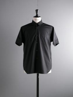 Sans Limite | SH01BH Black ブロードボックスレギュラーカラー半袖シャツ
