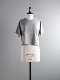FilMelange | LENE Campione Melange オーガニックラフィー天竺クロップドTシャツの商品画像