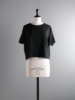 FilMelange | LENE Black オーガニックラフィー天竺クロップドTシャツ レーネの商品画像