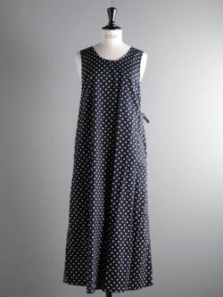 ENGINEERED GARMENTS   SUN DRESS – BIG POLKA DOT BROADCLOTH Dk. Navy サンドレスの商品画像