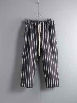 YARMO | CHEFS TROUSERS BUTCHER STRIPE Black シェフパンツ