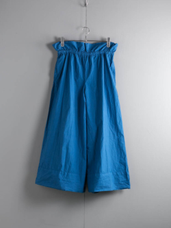 YARMO | DRAWING WIDE CULOTTES PANTS COTTON CAMBRIC Blue ワイドキュロットパンツの商品画像