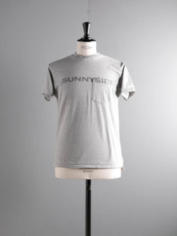 PRINTED CROSS CREW NECK T-SHIRT - SUNNYSIDE Grey