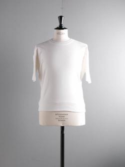 GICIPI | 1902P Bianco リブ編みリラックスフィットTシャツの商品画像