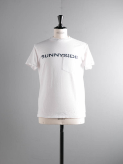 ENGINEERED GARMENTS | PRINTED CROSS CREW NECK T-SHIRT – SUNNYSIDE White プリントクロスクルーネックTシャツの商品画像