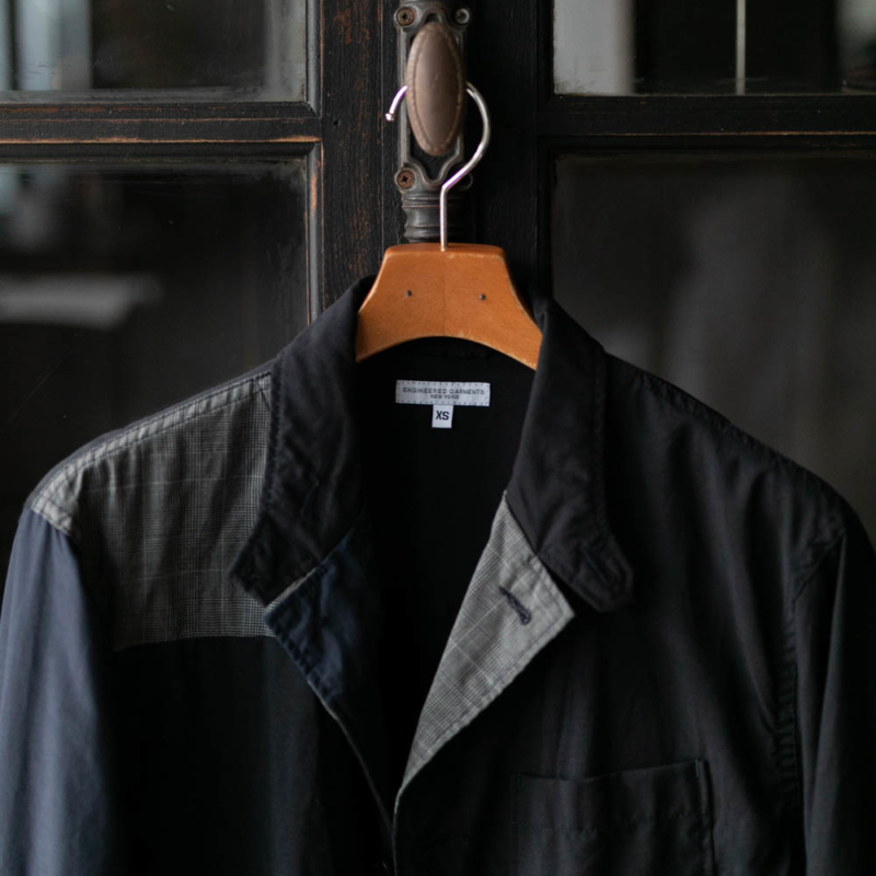 ENGINEERED GARMENTSのLOITER JACKETのTROPICAL WOOLのDk. Navy