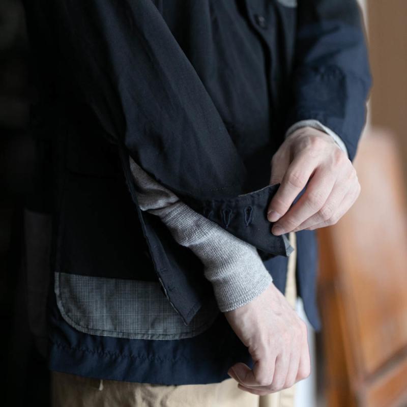 エンジニアドガーメンツのパッチワークロイタージャケットのネイビー