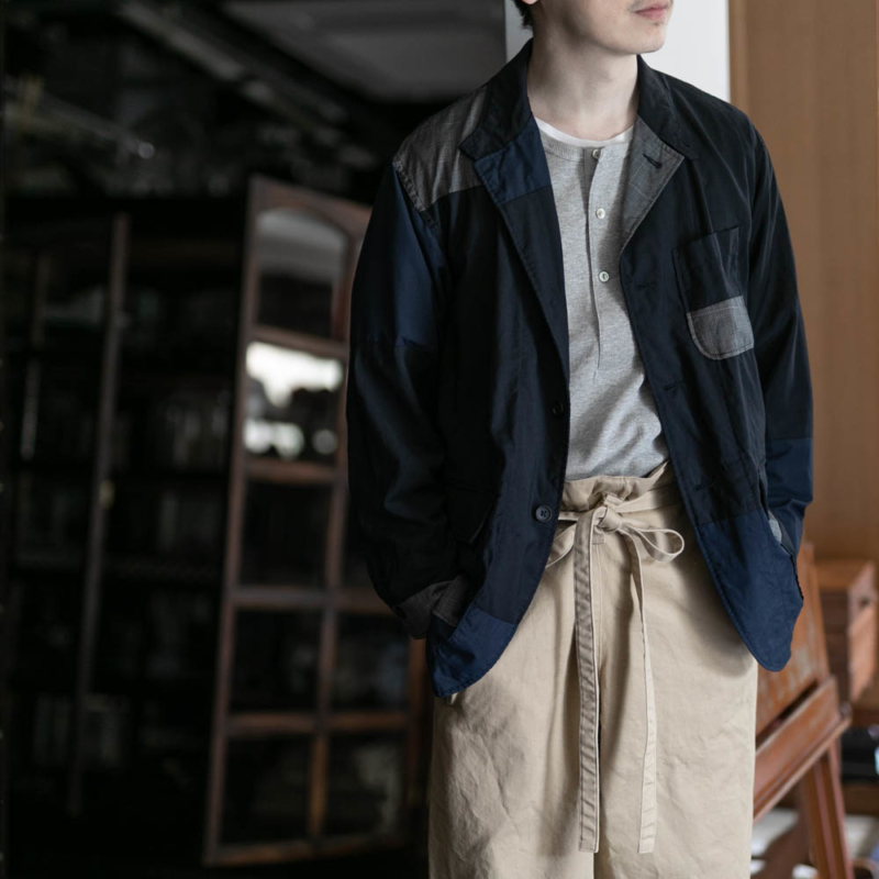 エンジニアードガーメンツのLOITER JACKETのTROPICAL WOOLのDk. Navy