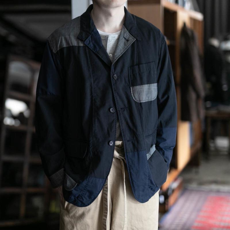 エンジニアドガーメンツのロイタージャケットのトロピカルウールのダークネイビー