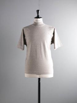 FilMelange | DOUG Melange 度詰めネップ天竺半袖モックネックTシャツ