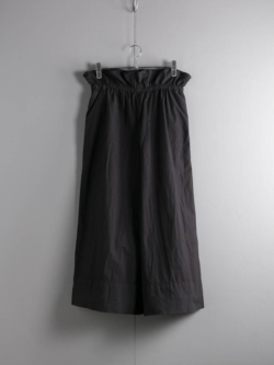 YARMO | DRAWING WIDE CULOTTES PANTS COTTON CAMBRIC Black ワイドキュロットパンツの商品画像