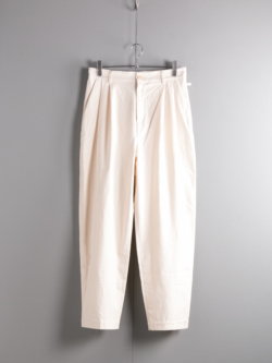 FRANK LEDER | VINTAGE BEDSHEET TROUSERS 80:Natural ベッドリネンタックパンツの商品画像