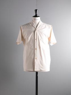 FRANK LEDER | VINTAGE BEDSHEET HAWAII SHIRT 80:Natural ベッドリネン半袖オープンカラーシャツ