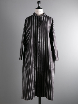 YARMO | LAB COAT BUTCHER STRIPE Black ラボコートの商品画像