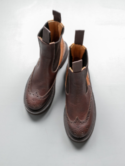 Tricker's | SILVIA ELASTIC SIDED BOOT Brown Multi Tone スウェードサイドゴアブーツの商品画像