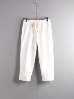 YARMO | CHEFS TROUSERS BRITISH COTTON TWILL Cream シェフパンツ