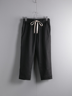 YARMO | CHEFS TROUSERS BRITISH COTTON TWILL Black シェフパンツ
