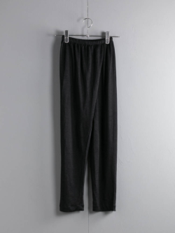 ABOUT | EMOCIJAPNTS Solid Black リネンナイロンジャージーパンツの商品画像