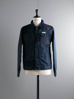 ENGINEERED GARMENTS | TRUCKER JACKET – 6.5OZ FLAT TWILL Navy トラッカージャケットの商品画像