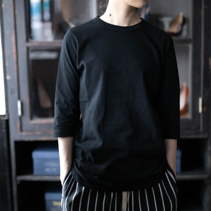 FilMelange Davy 7分袖フットボールTシャツ Blackの通販取り扱い