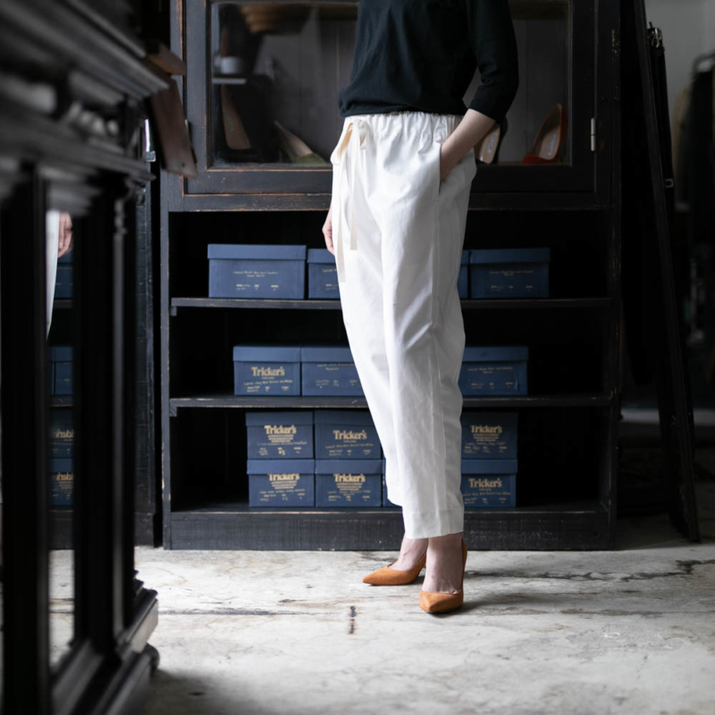 YARMO CHEFS TROUSERS BRITISH COTTON TWILL Whiteの通販取り扱い