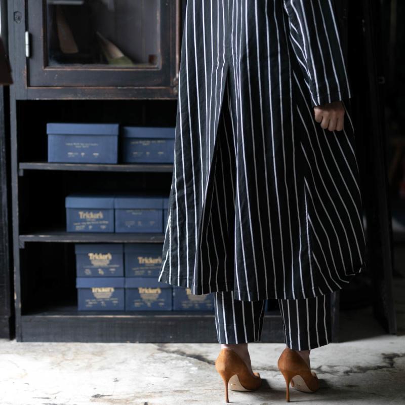 ヤーモ Lab Coat BUTCHER STRIPE ブラックの通販取り扱い