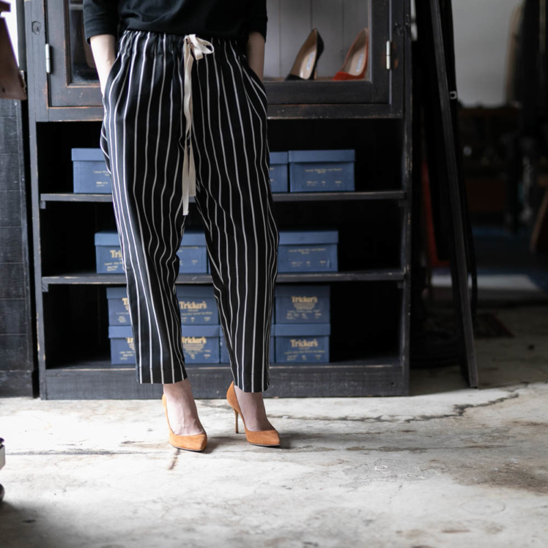 YARMO CHEFS TROUSERS BUTCHER STRIPE Blackの通販取り扱い