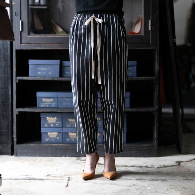 ヤーモ CHEFS TROUSERS BUTCHER STRIPE Blackの通販取り扱い