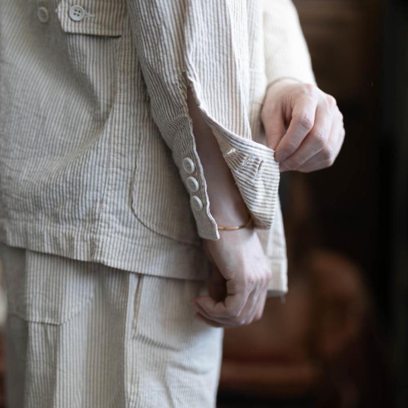 エンジニアードガーメンツ DLSジャケット シアサッカーストライプの通販取り扱い
