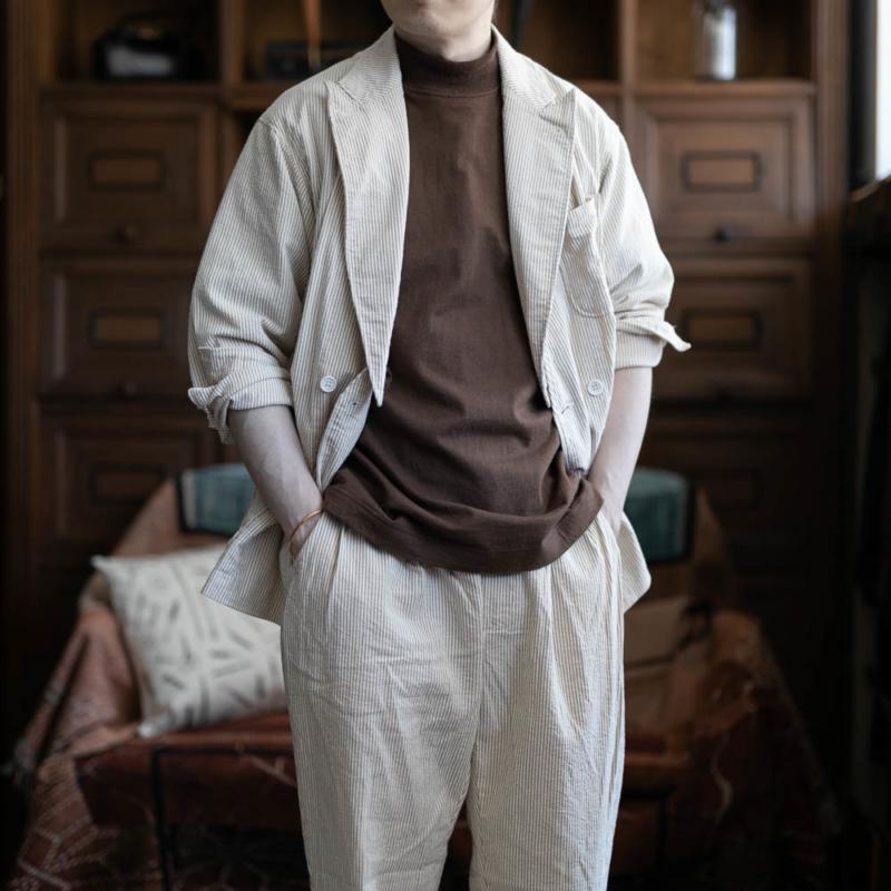 エンジニアードガーメンツ DLSジャケット シアサッカーベージュの通販取り扱い
