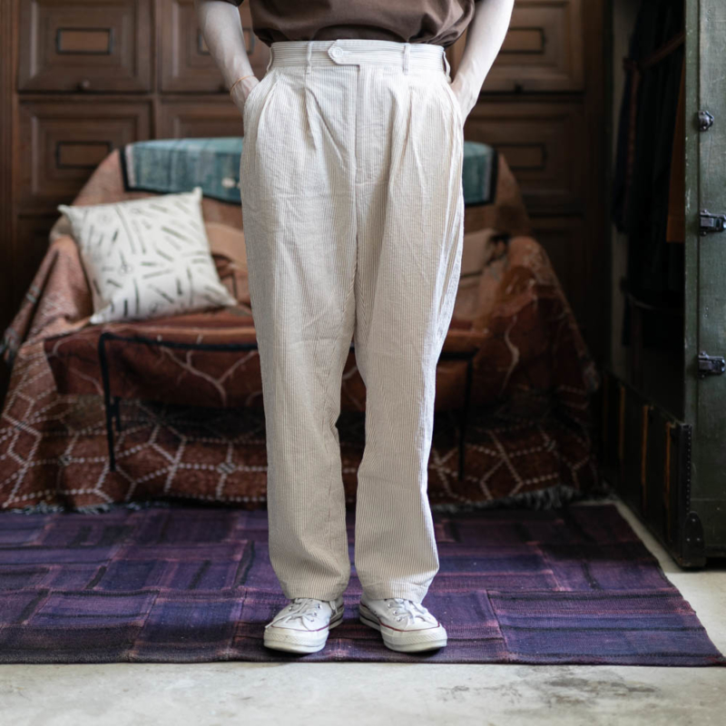 ENGINEERED GARMENTS EMERSON PANT – SEERSUCKER ST. Beigeの通販取り扱い