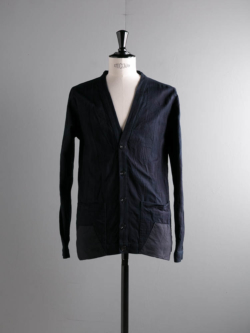 FRANK LEDER | INDIGO DYED + WASHED COTTON CARDIGAN 39:Navy/Indigo インディゴ手染めカーディガンの商品画像