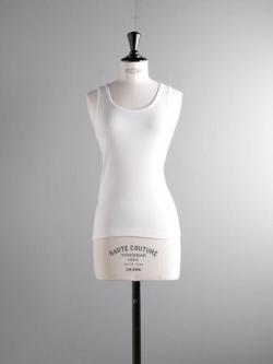 FilMelange | AVERY White コットンフライスタンクトップ アベリーの商品画像