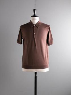 BATONER | BN-19SM-022 Brown GIZA45コットンポロシャツの商品画像