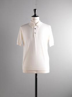 BATONER | BN-19SM-022 White GIZA45コットンポロシャツの商品画像