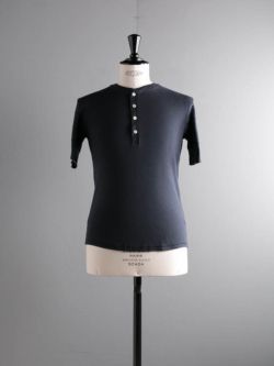 KARL-HEINZ SHORT SLEEVE HENLEY Blue Black